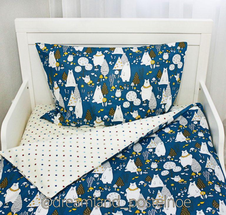постельное белье с мишками