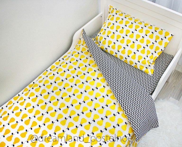 """1,5-спальное постельное белье """"Желтые груши"""""""