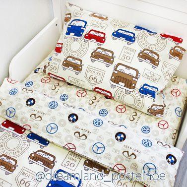 детское постельное белье с машинками иномарки