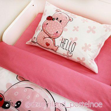 детское постельное белье бегемот 1