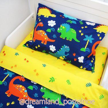 Детское постельное белье Динозавры