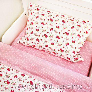 Детское постельное белье Клубника