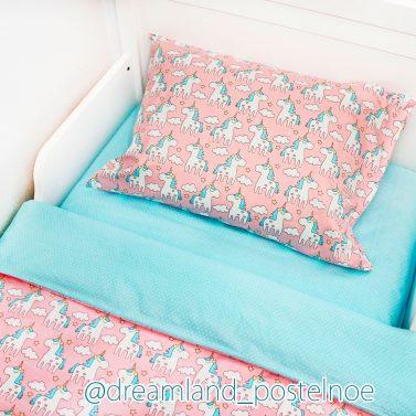 детское постельное белье единорожки 2