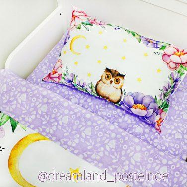 детское постельное с совами