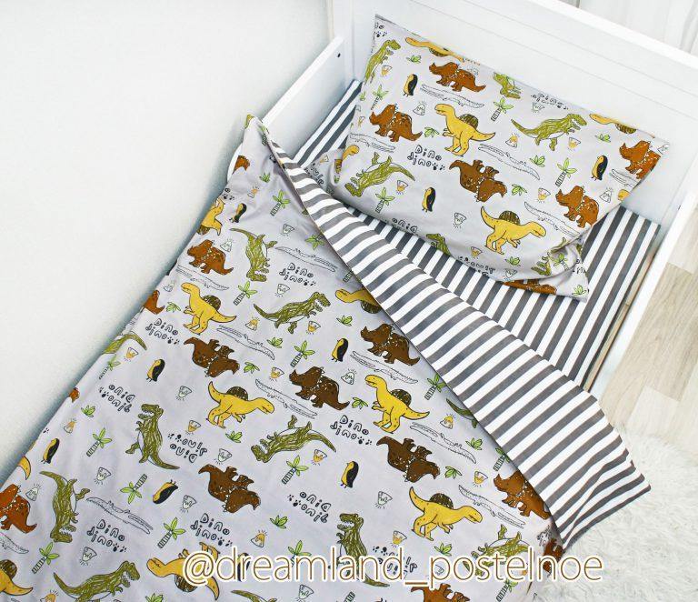 постельное белье с динозаврами
