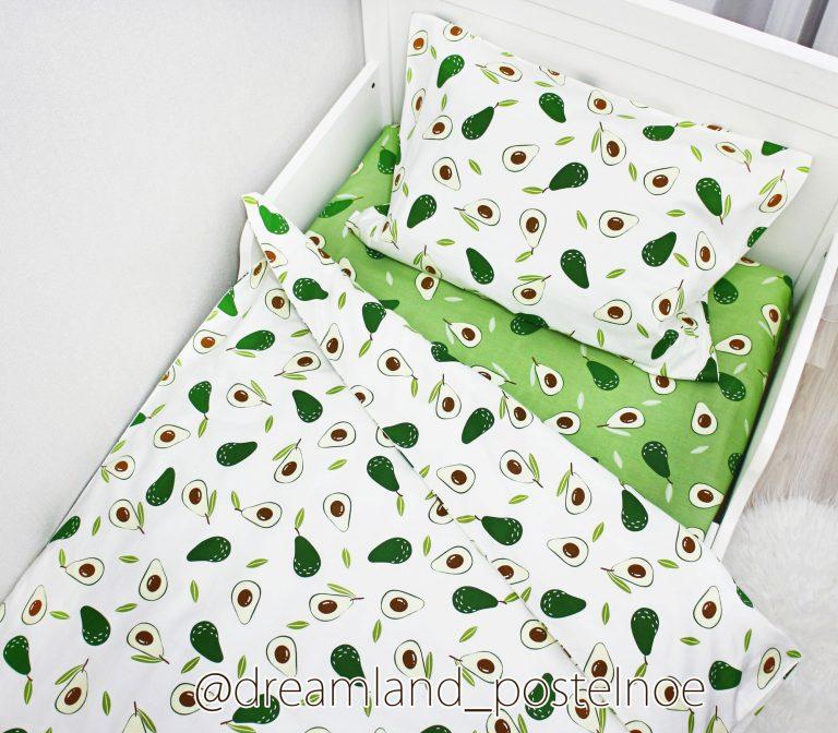 детское постельное белье авокадо