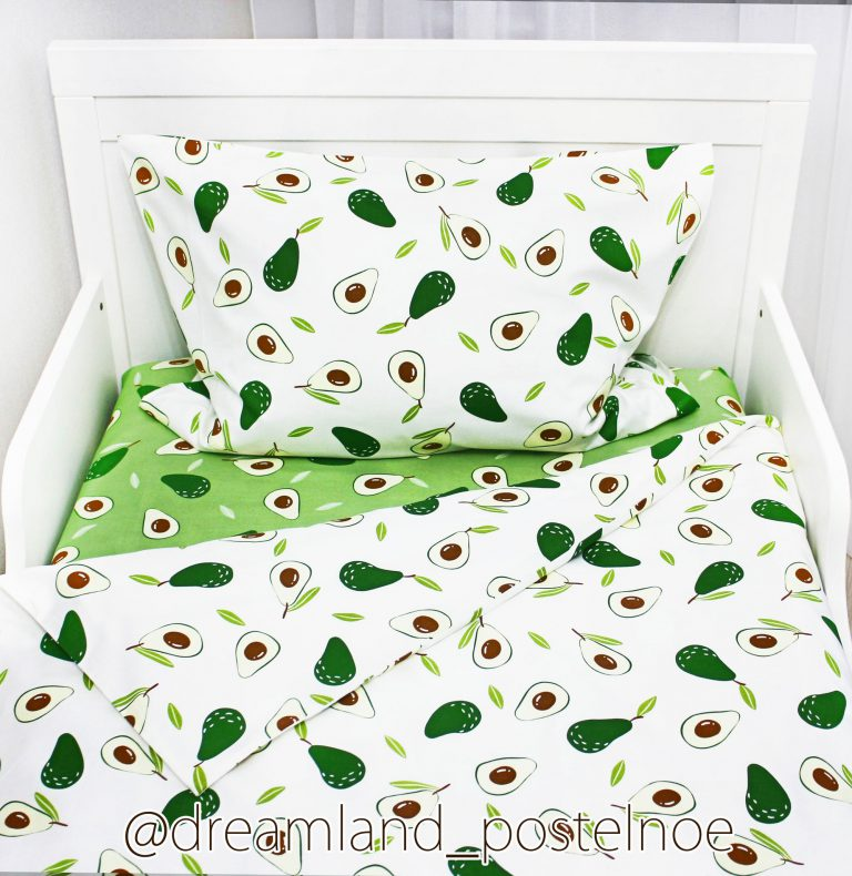 детское постельное авокадо