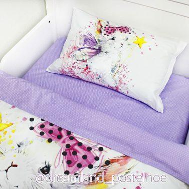 детское постельное зайка фея в юбке