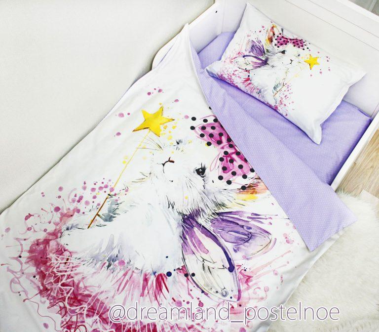постельное белье зайка фея в юбке