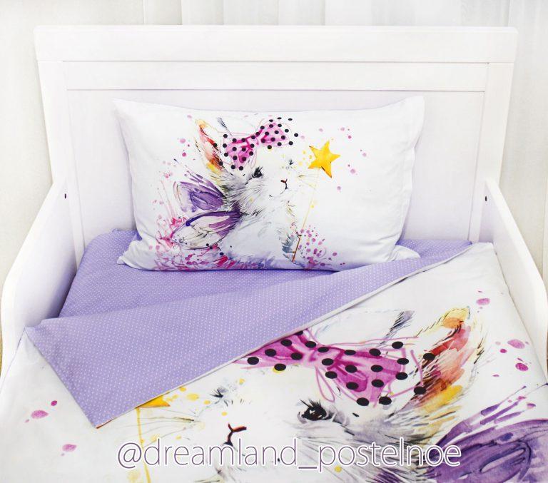 детское постельное белье зайка фея в юбке