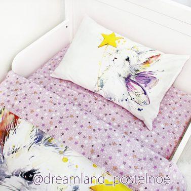 детское постельное белье зайка фея