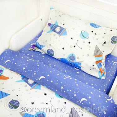 детское постельное белье космос