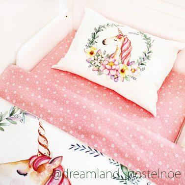 детское постельное белье с единорожками