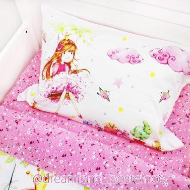 постельное белье девочка на качелях
