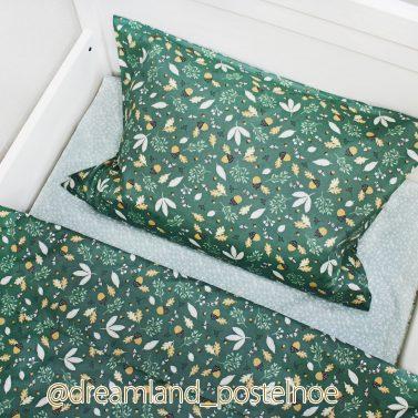 постельное белье желуди с листочками