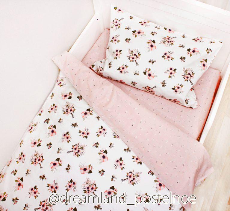 постельное белье с анемонами