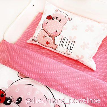 постельное белье с бегемотом