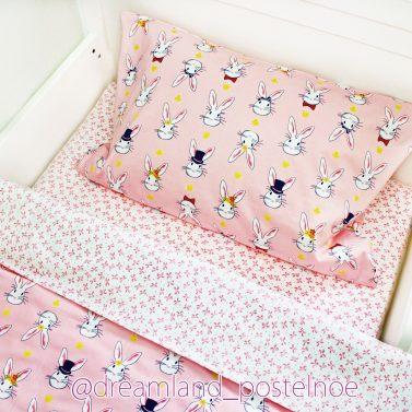 постельное белье с зайками