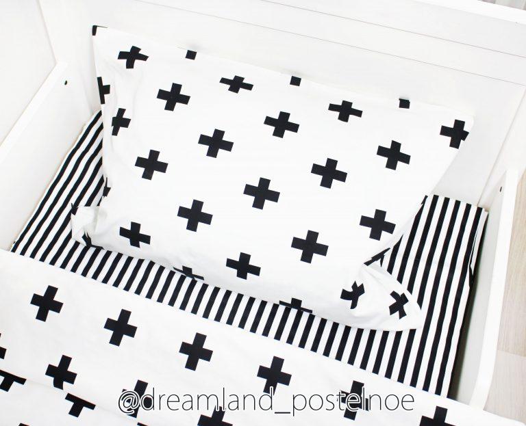 постельное белье с крестиками